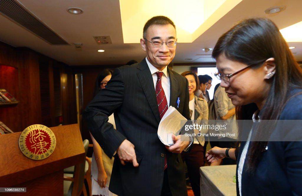 Hong Kong Law Society President Thomas So Shiu-tsung attends