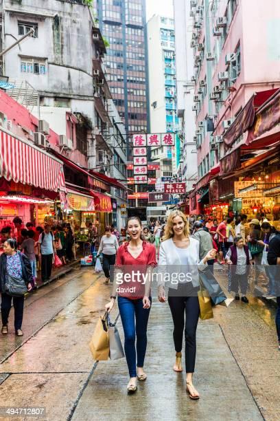 Hong Kong Market Shopping Women