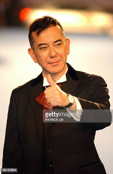 Hong Kong movie star Anthony Wong poses for photo on the stars boulevard at Keelung Culture Center 13 November 2005 for the 42nd Golden Horse Awards...