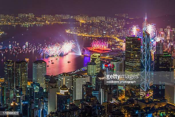 Hong Kong new year 2013 fireworks display