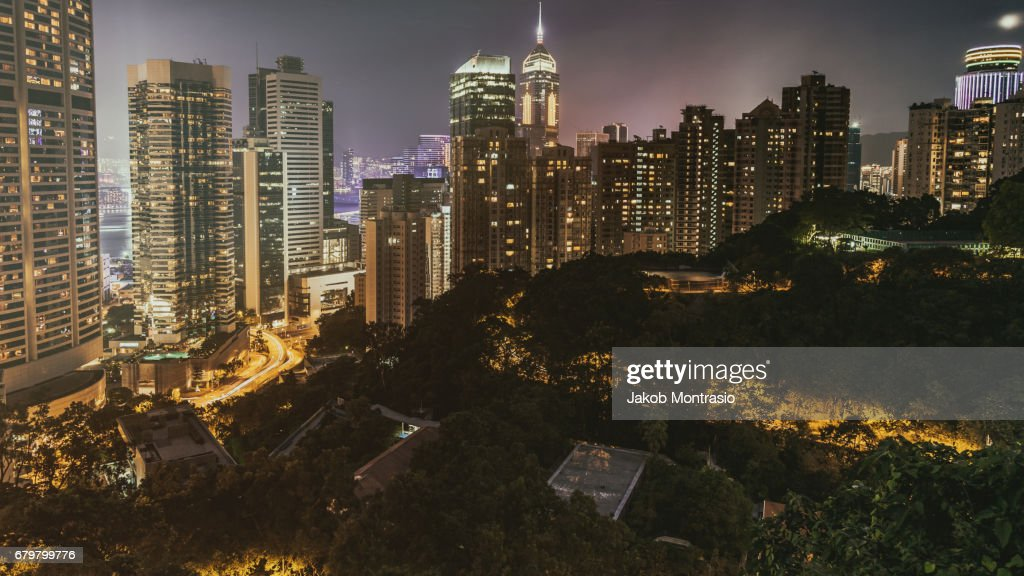 Hong Kong Night View : Stock Photo