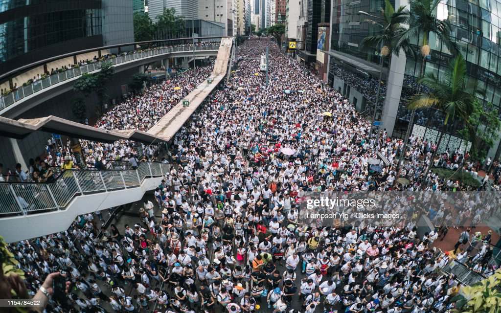 Hong Kongers Protest Over China Extradition Law : News Photo