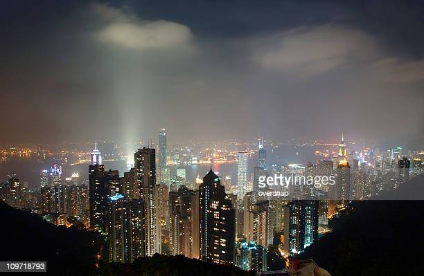 hong kong - gotham stock photos and pictures