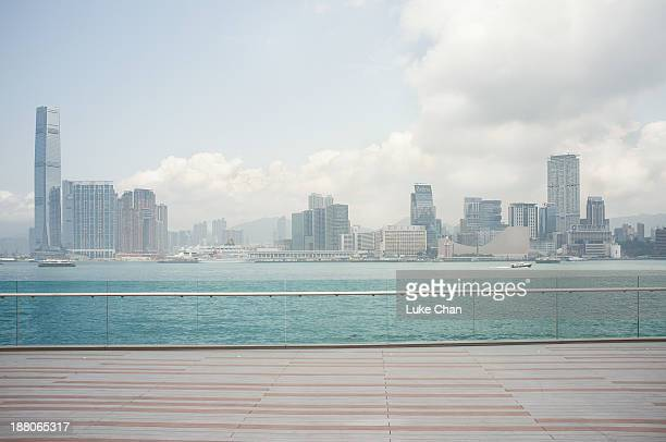 hong kong - railing stock pictures, royalty-free photos & images