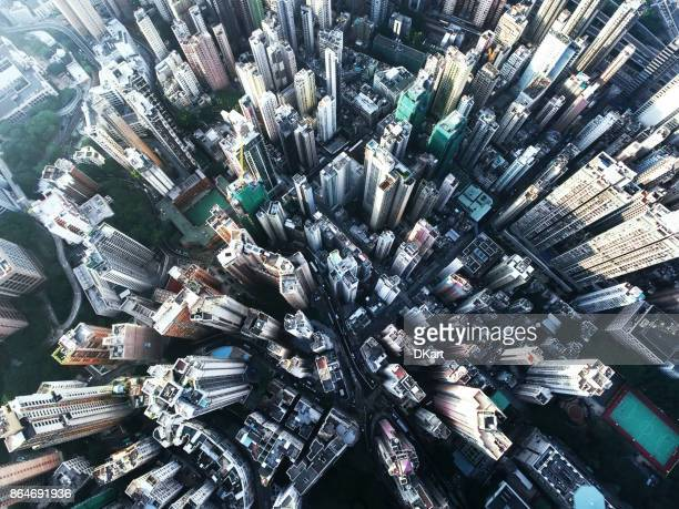 hong kong - aerial view stock pictures, royalty-free photos & images