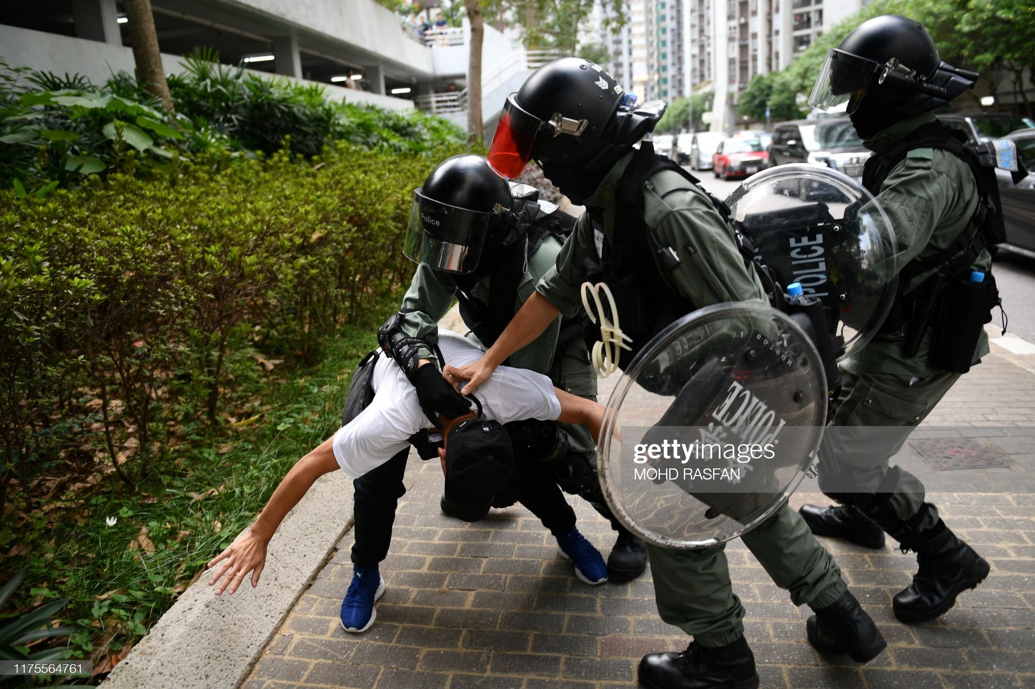 HONG KONG-CHINA-politics-CRIME-unrest : Nachrichtenfoto