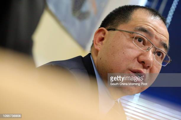 Hong Kong Police Senior Superintendent Anthony Tsang chingfo speaks at a press conference at the Kowloon East Regional Headquarters on Po Lam Road...