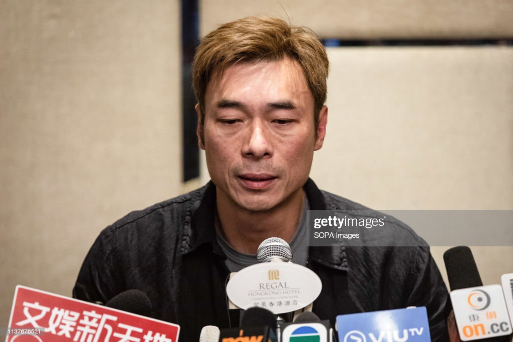 Hong Kong pop star Andy Hui Chi-on (51) seen speaking at a... : News Photo
