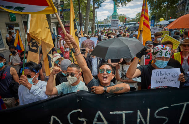 FRA: Pro Hong Kong Demonstration In Paris Against China's National Security Law