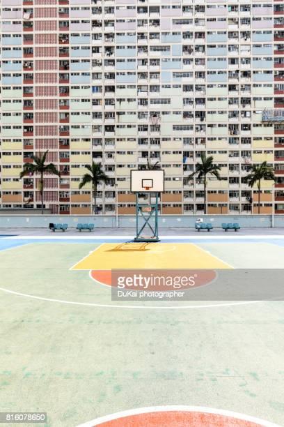 Hong Kong rainbow village basketball court