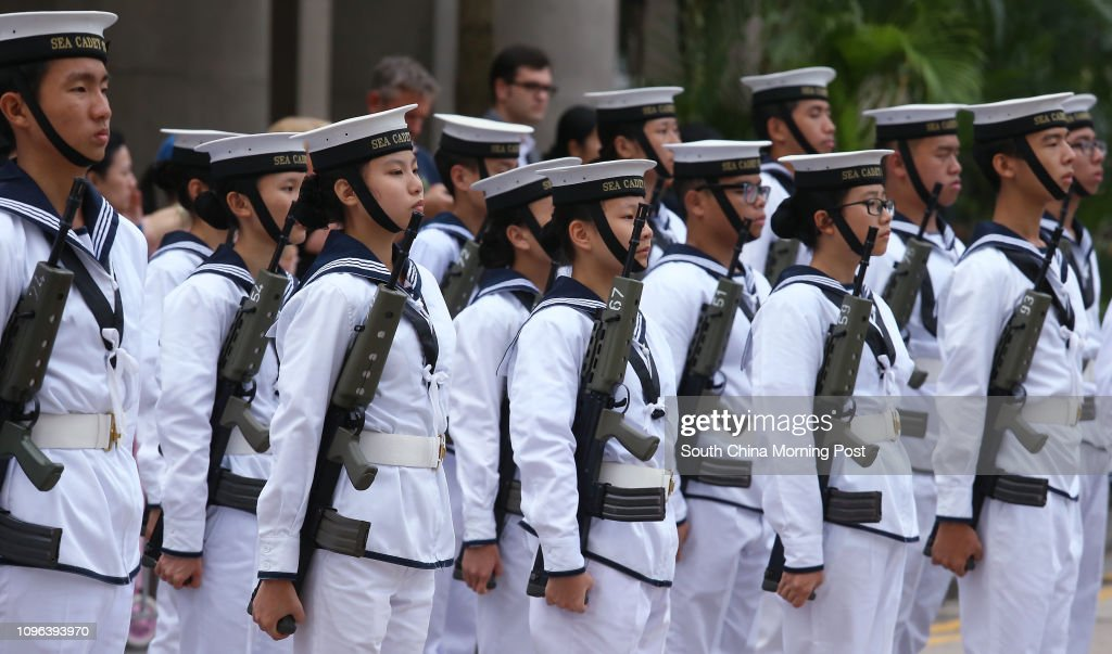 Hong Kong Sea Cadet Corps attend the Remembrance Sunday