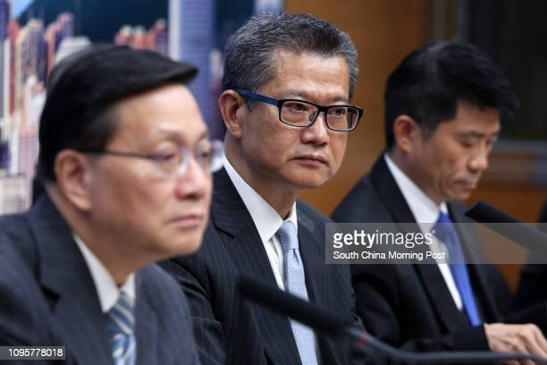 Hong Kong Secretary for Transport and Housing Anthony Cheung Bingleung Secretary for Development Paul Chan Mopo and Director of Water Supplies Enoch...