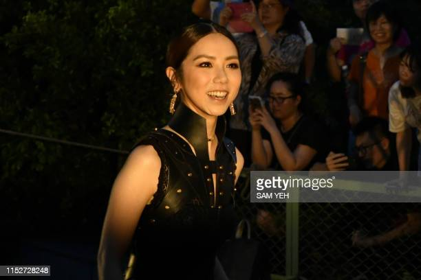 Hong Kong singer Gloria Tang arrives for the 30th Golden Melody Awards in Taipei on June 29 2019