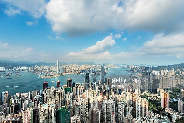 Hong Kong skyline and Victoria harbor