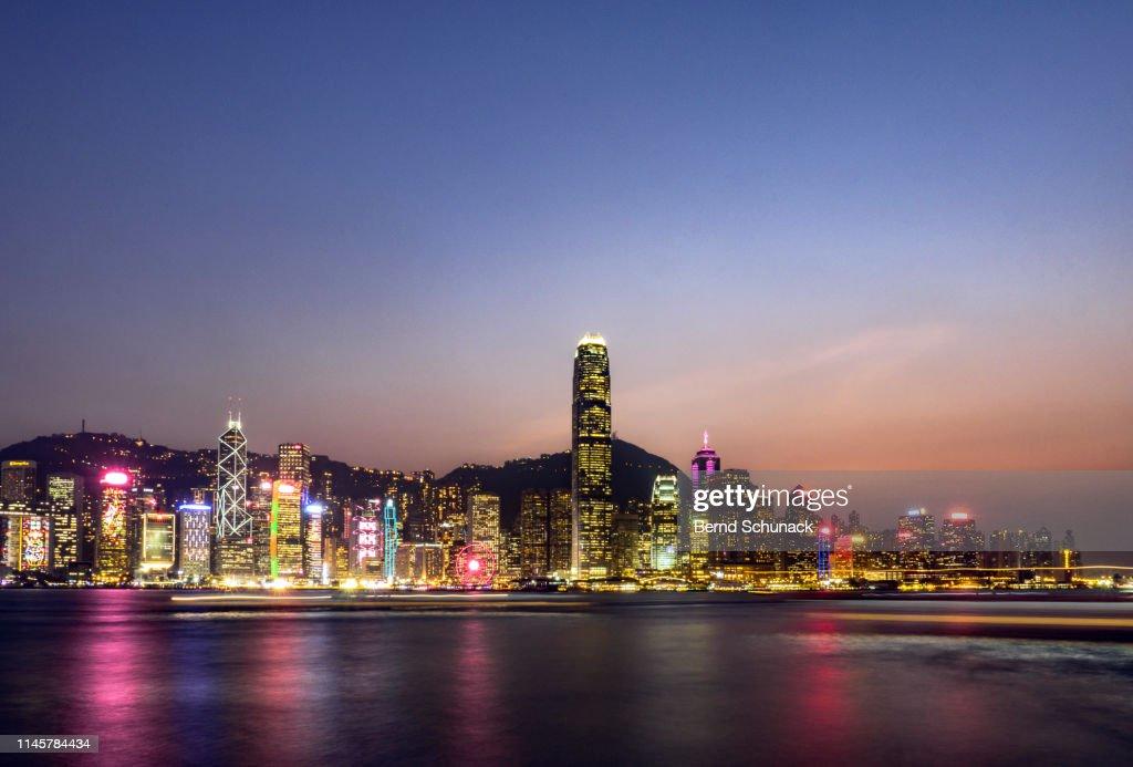 Hong Kong Skyline at dusk : Stock-Foto