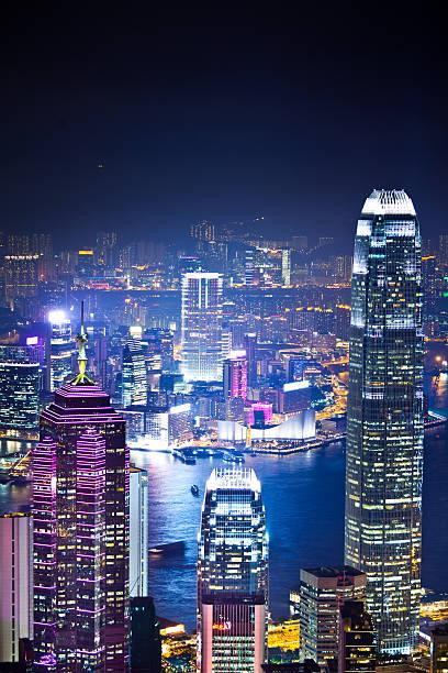 Hong Kong Skyline At Night Wall Art