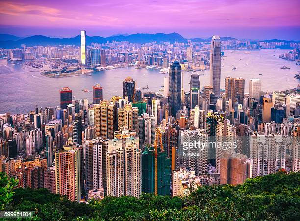 Hong Kong skyline at Twilight