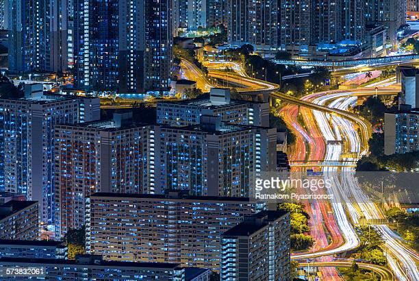 hong kong skyline - paisajes de hongkong fotografías e imágenes de stock