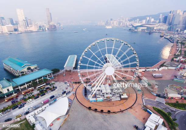 hong kong skyline - national landmark stock pictures, royalty-free photos & images