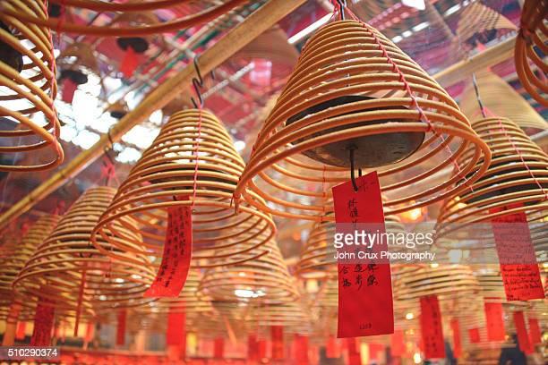 hong kong temple - man motempel stockfoto's en -beelden