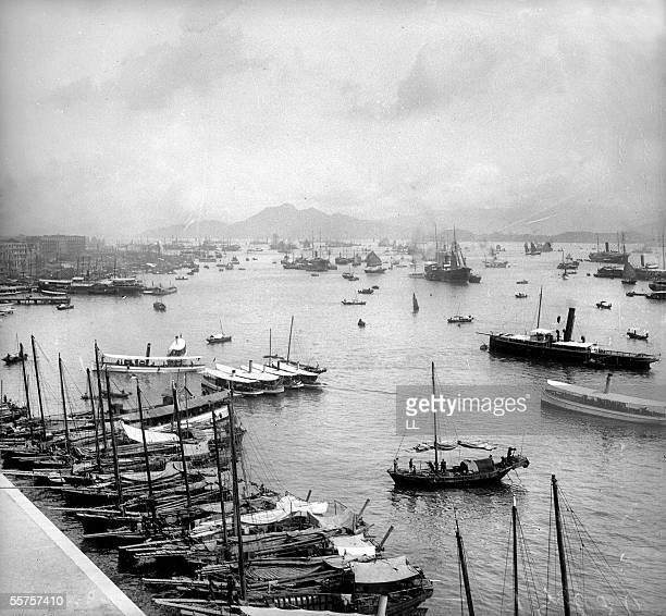 Hong Kong The natural harbour By 1900 LL25271B stereo