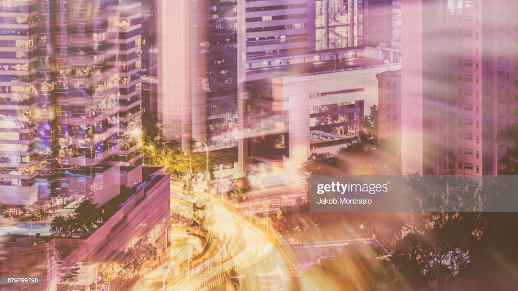 Hong Kong, the vivid city : Stock Photo