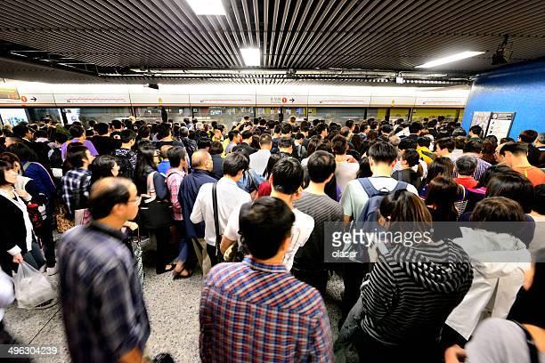Hong Kong travellers in subway