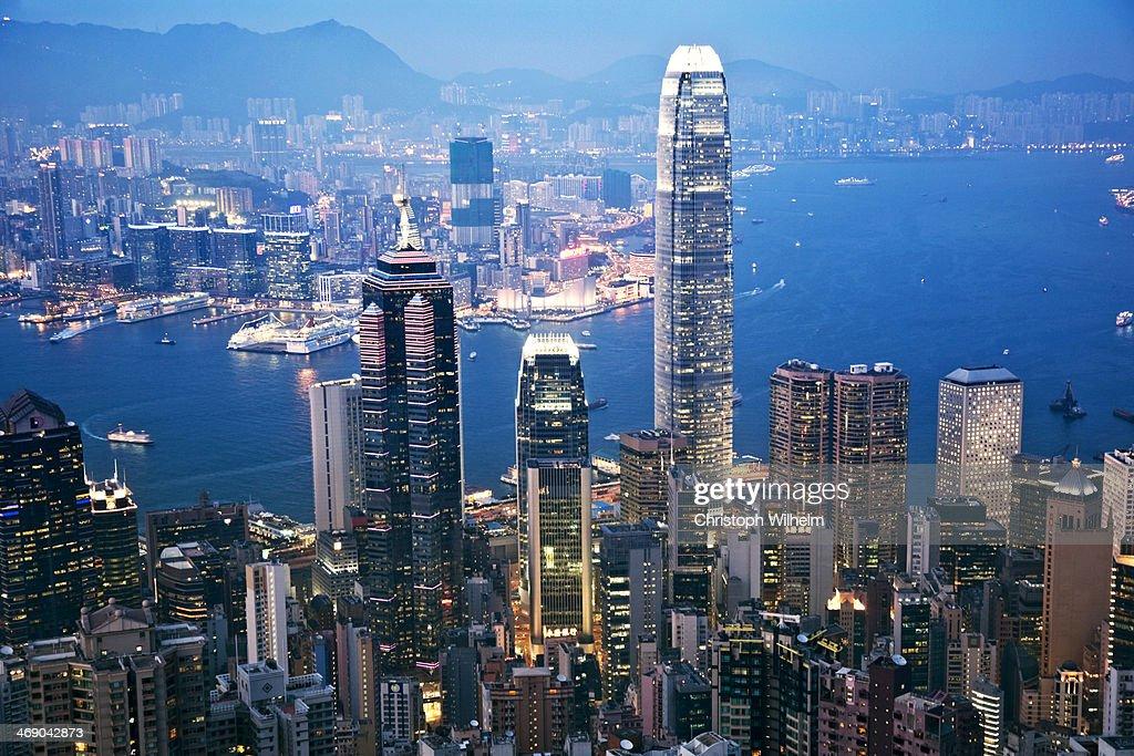 Hong Kong twilight : Stock Photo