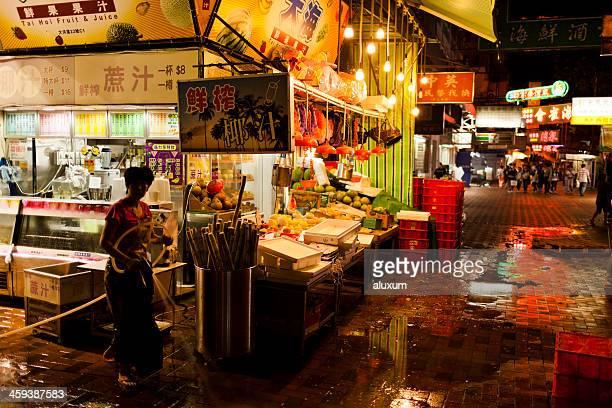 Hong Kong urban life at night