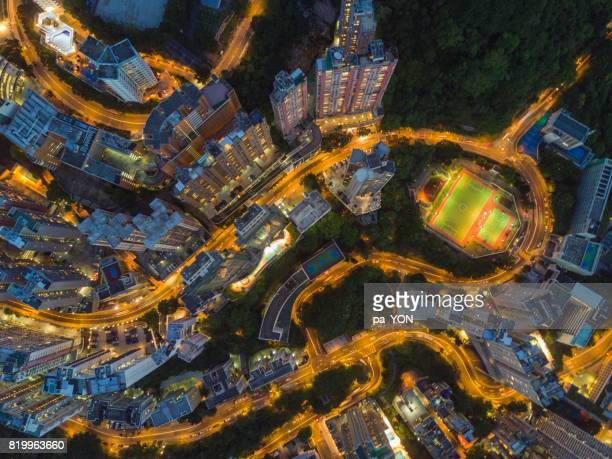 hong kong urban scene - two international finance center stock pictures, royalty-free photos & images