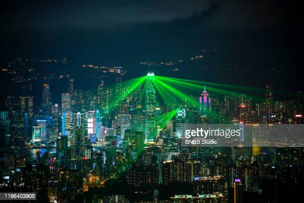 hong kong victoria harbor - kowloon peninsula stock pictures, royalty-free photos & images
