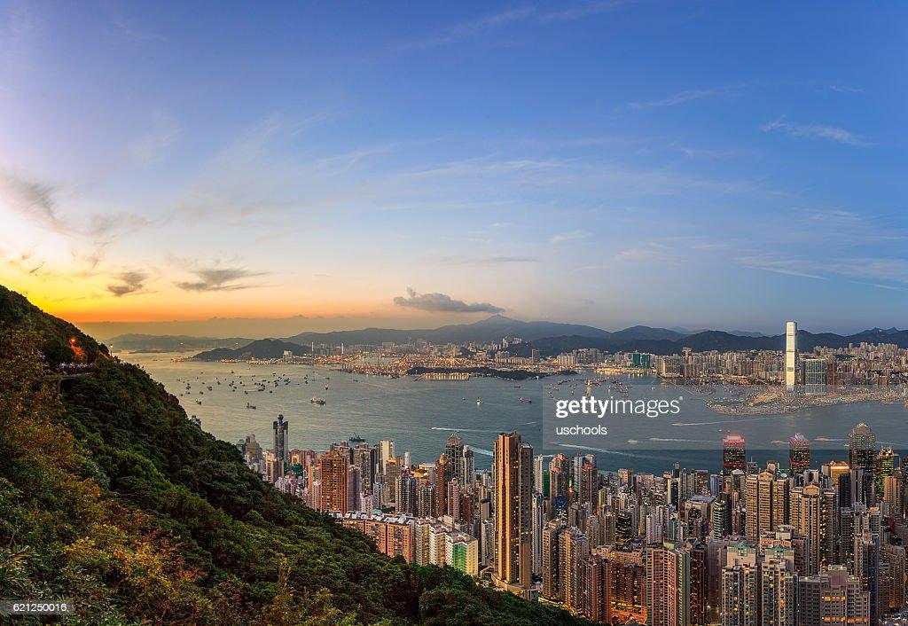 Hong Kong Victoria Harbor : Stock Photo