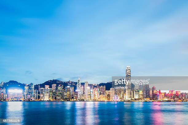 Hong Kong Victoria Harbour on a  Clear Day