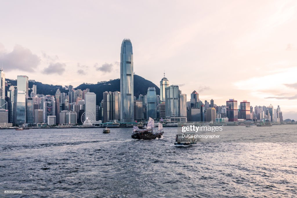 Hong kong Victoria Harbour : Stock Photo