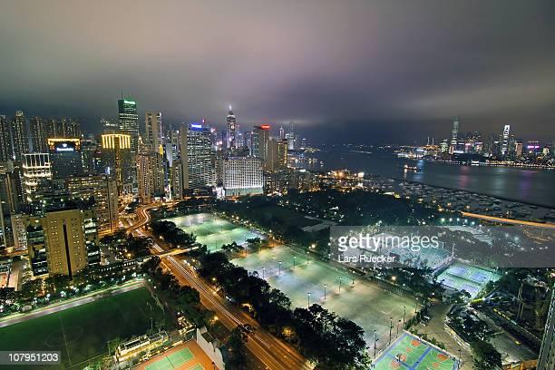 hong kong view - ビクトリア公園 ストックフォトと画像