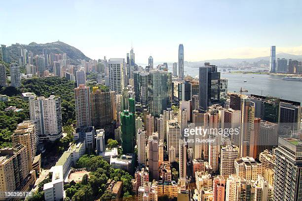 hong kong: wan chai, admiralty & central - wanchai stock photos and pictures