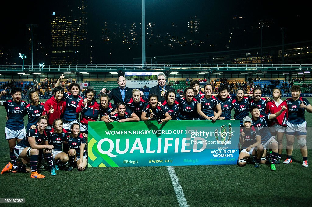 Hong Kong Women's Team during the Womens Rugby World Cup 2017 Qualifier match between Hong Kong and Japan on December 17, 2016 in Hong Kong, Hong Kong.