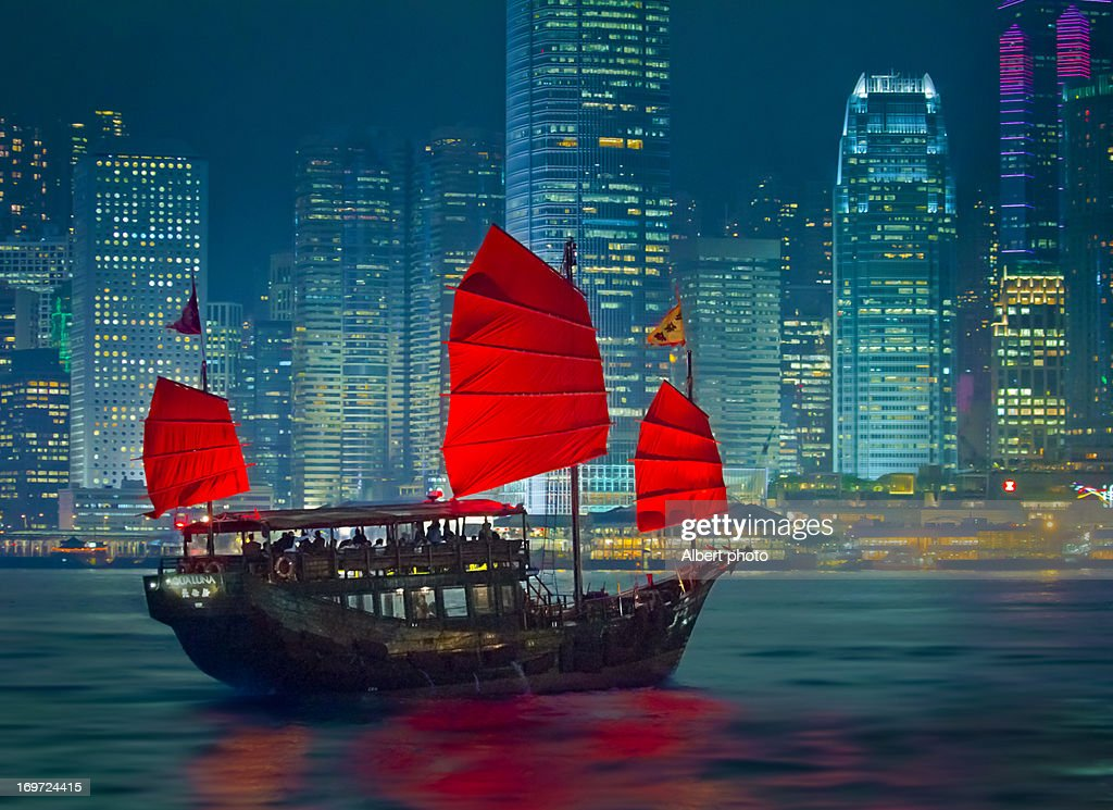 Hong Kong-Boat : Stock Photo