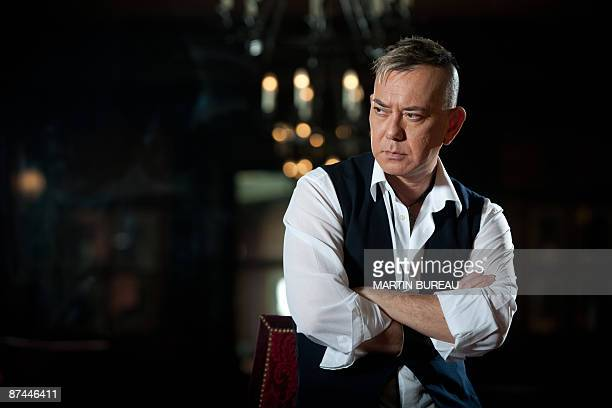 Hong Kong's actor Anthony Wong ChauSang poses before the screening of the movie Vengeance directed by Hong Kong's Johnnie To presented in competition...