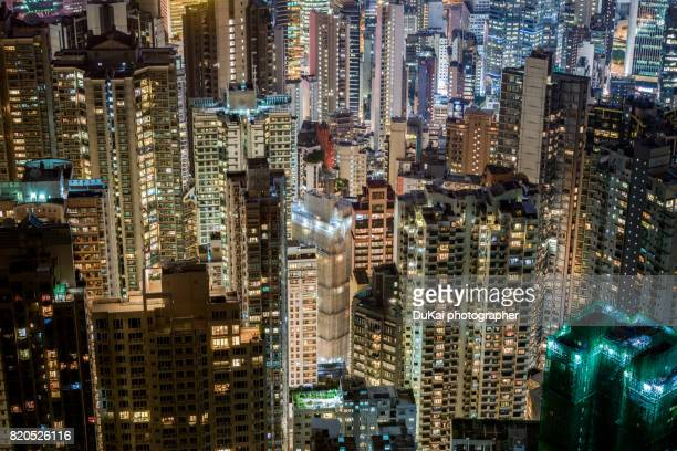 Hong Kong's crowded residential building