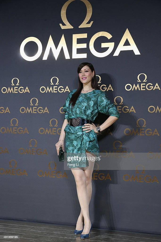Hong Kong's model Sophia Kao arrives for the red carpet of Omega Le Jardin Secret dinner party on May 16, 2014 in Shanghai, China.