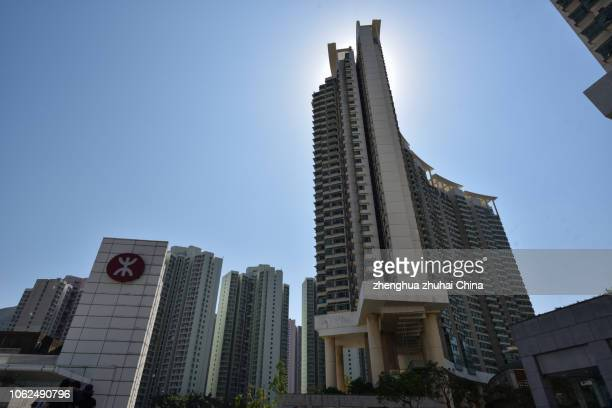 hong kong's residential buildings - hong kong stock pictures, royalty-free photos & images