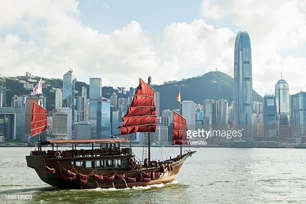Hong Kong's traditional sailing junk