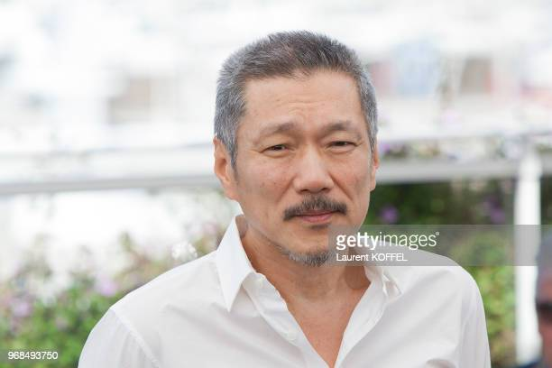 Hong Sangsoo attends 'Claire's Camera ' photocall during the 70th annual Cannes Film Festival at Palais des Festivals on May 21 2017 in Cannes France