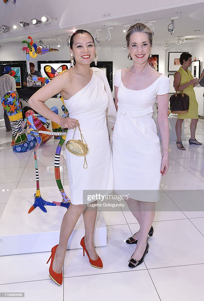 Hong Thaimee and Maureen Footer attend the Gotham Magazine Celebration of Its Featured Amazing Faces Of NYC Beauties on June 19, 2013 in New York City.