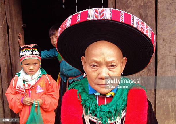 Hong Tou Yao/Dao hill-tribe Grandma and her grandson, in a rural area of Bao Lac district, in the North of Vietnam, near the China border. The more...