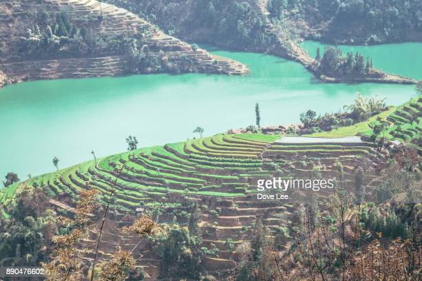 honghe landscape - yunnan province stock pictures, royalty-free photos & images