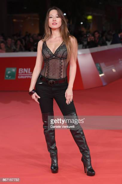HongHu Ada walks a red carpet for 'Una Questione Privata' during the 12th Rome Film Fest at Auditorium Parco Della Musica on October 27 2017 in Rome...