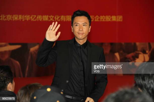 Hongkong actor Donnie Yen poses for a photo during a press conference to promote the movie 'Bodyguards and assassins' on November 12 2009 in Nanjing...
