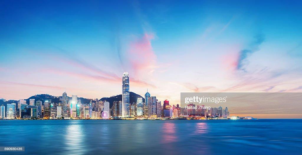 Hongkong by night : Stock Photo